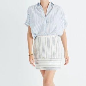 Gamine Miniskirt in Stripe Play